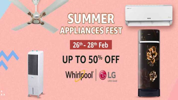 Amazon announces Summer Appliances Fest, 50pc off on ACs, refrigerators, coolers- India TV Paisa