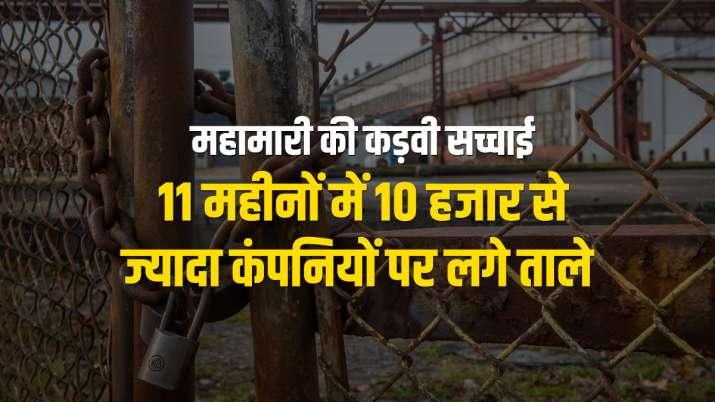 Cornavirus Pandemic impact on jobs more than 10 thousand companies shut down in last 11 months- India TV Paisa