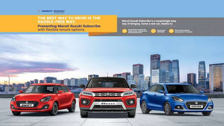 Maruti Suzuki launches vehicle subscription services in 4 more cities- India TV Paisa