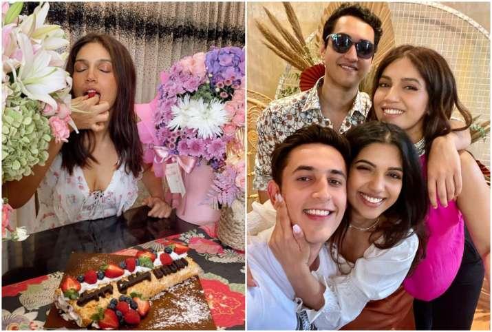 Bhumi Pednekar shared birthday celebration pictures and video on Instagram-भूमि पेडनेकर ने शेयर की बर्थडे सेलिब्रेशन की PHOTOS, हर तस्वीर में दिख रहीं खूबसूरत