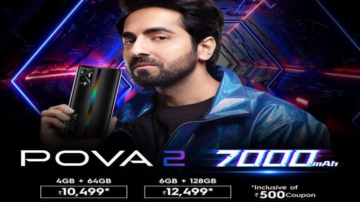 Tecno ने 7000 एमएएच बैटरी के साथ इनक्रेडिबली पावरफुल POVA 2 स्मार्टफोन लॉन्च किया, कीमत 10999 रुपए- India TV Paisa
