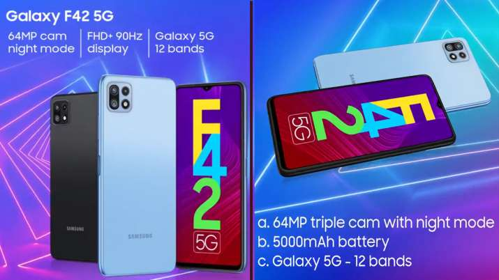 Samsung Galaxy F42 5G with triple rear cameras launched in India- India TV Paisa