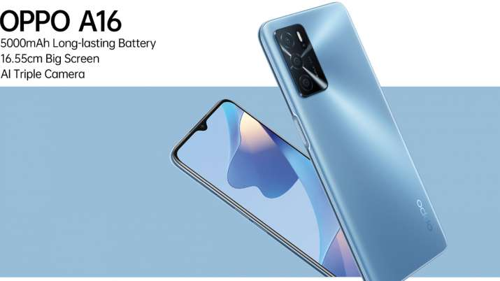 OPPO A16 with 5,000mAh battery, AI triple camera launched in India at Rs 13990- India TV Paisa