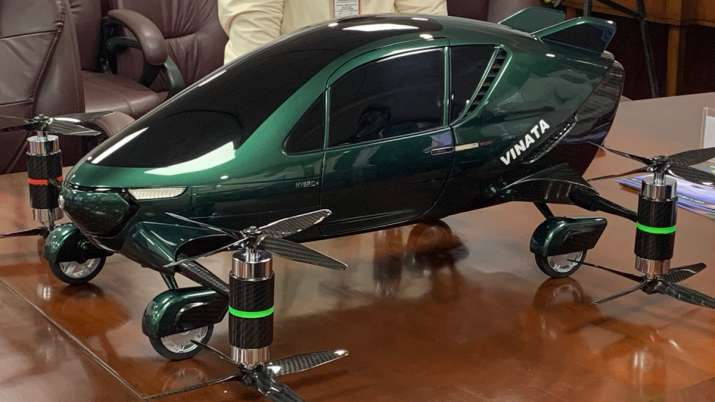 Jyotiraditya Scindia introduced concept model of the Asia's First Hybrid flying car- India TV Paisa
