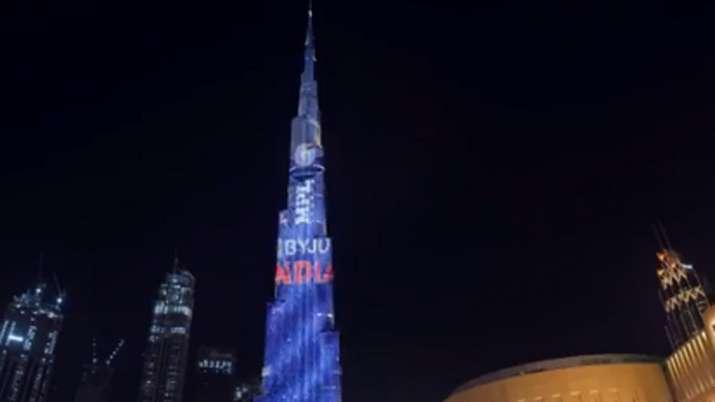 टीम इंडिया की टी20 वर्ल्ड कप 2021 की नई जर्सी बुर्ज खलीफा पर छाई