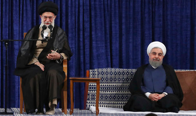 Ayatollah Ali Khamenei and Hassan Rouhani | AP Photo- India TV Hindi