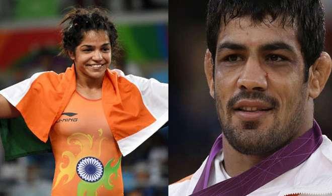 All Eyes On Sushil Kumar and Sakshi Malik at Wrestling...- India TV Hindi