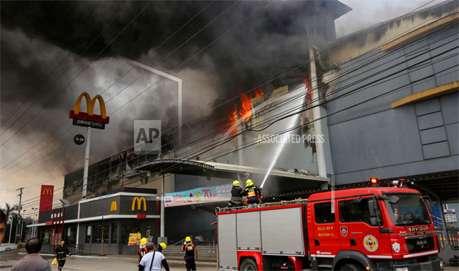 Philippines Mall Fire | AP Photo- India TV Hindi