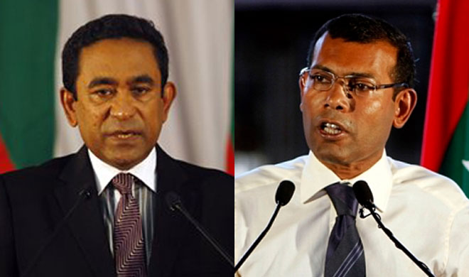 Abdulla Yameen and Mohamed Nasheed | AP Photos- India TV Hindi