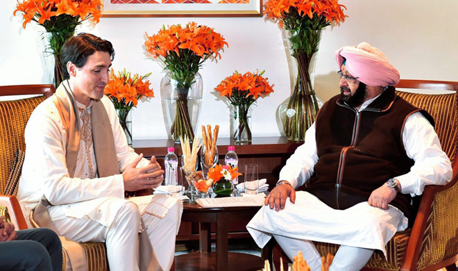 Canadian pm Justin Trudeau meets with Punjab CM Amarinder...- India TV Hindi