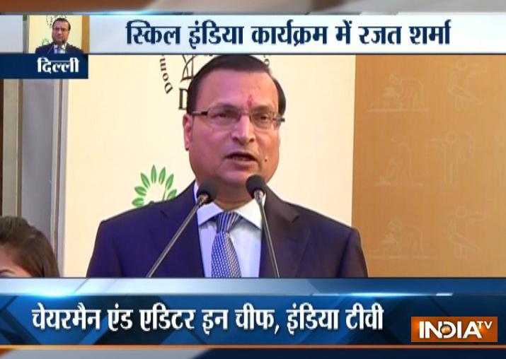 India TV Editor-in-chief Rajat Sharma calls for making 'Skill India' a big success - India TV Hindi