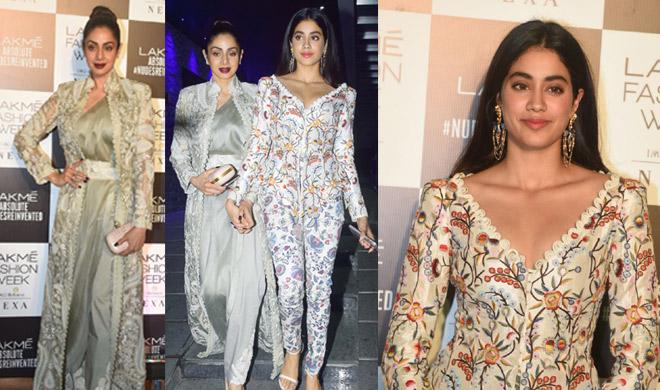 sri devi and jhanvi at lakme fashion week 2018- India TV Hindi