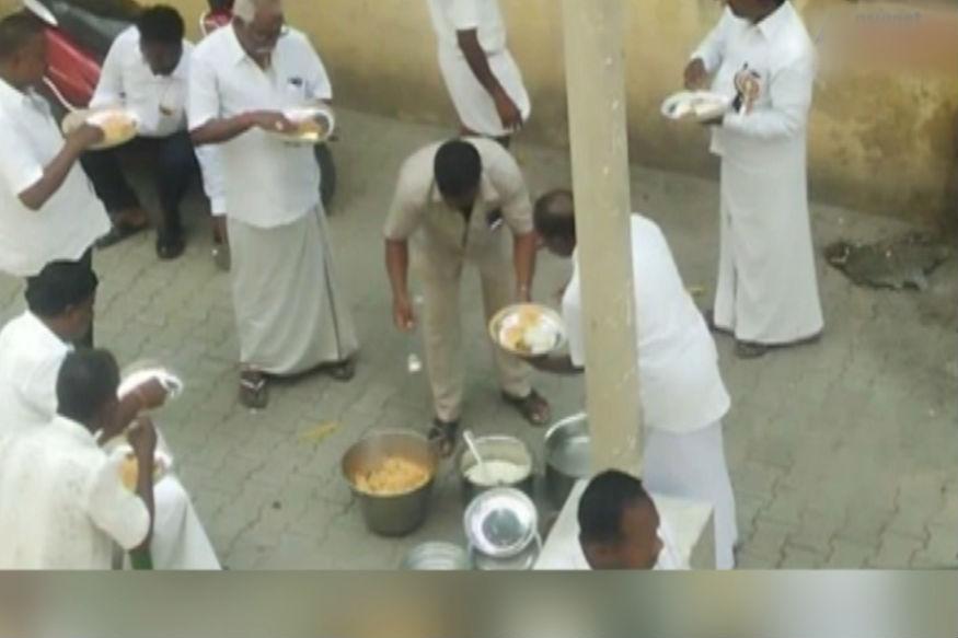 AIADMK cadres seen eating biryani, consuming liquor during one-day hunger strike- India TV Hindi