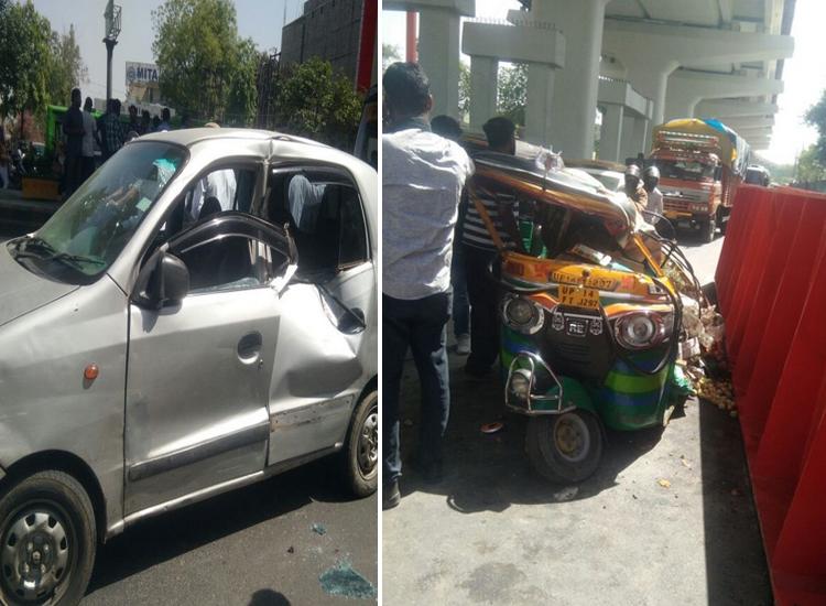 guarder of Delhi Metro falls down in Mohan...- India TV Hindi