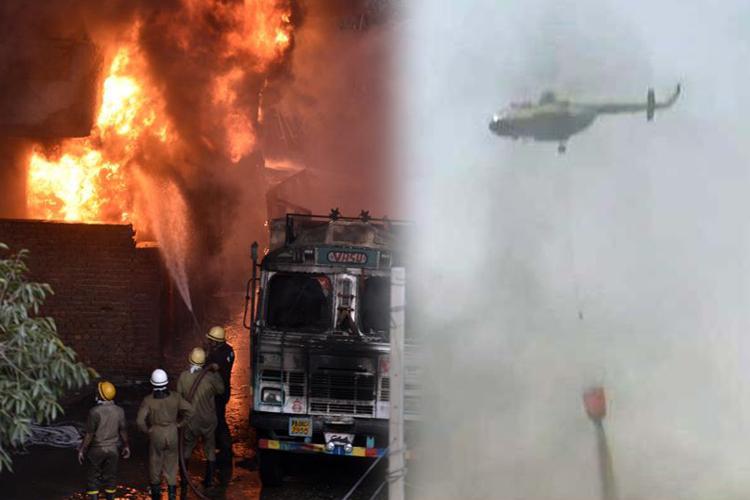 Massive fire at godown in Delhi's Malviya Nagar- India TV Hindi