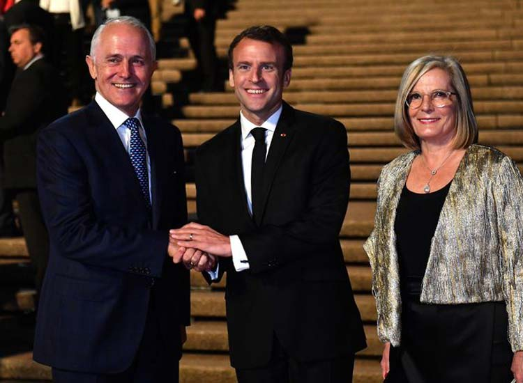 France Macron says Aussie PM wife delicious- India TV Hindi