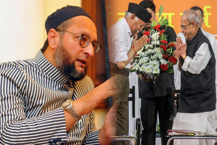 AIMIM leader Asaduddin Owaisi flays Pranab for lauding RSS founder- India TV Hindi