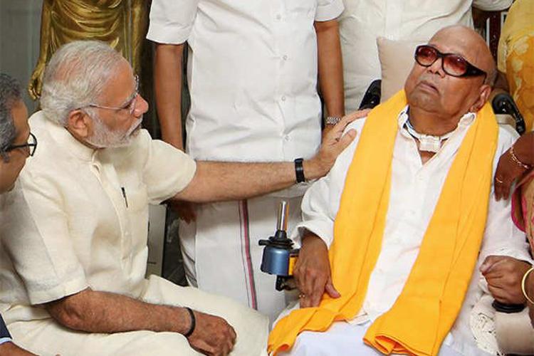 DMK अध्यक्ष एम करुणानिधि की तबीयत बिगड़ी, PM मोदी ने फोन कर पूछा हालचाल- India TV Hindi