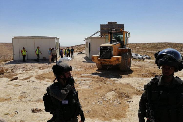 Israel demolishes Palestinian school in West Bank | twitter.com/DBaranskiW- India TV Hindi