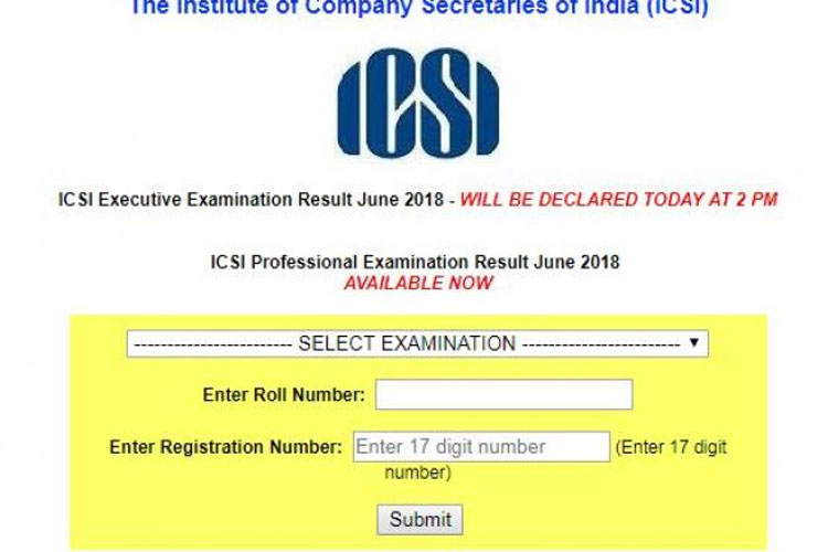 ICSI CS result 2018 Professional programme results- India TV Hindi