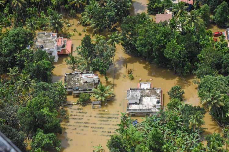 A view of the flood affected areas, in Kochi- India TV Hindi