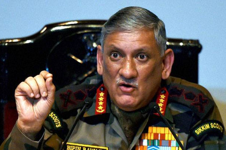 Time to reply to Pakistan in same coin, it must feel same pain, says General Bipin Rawat   PTI- India TV Hindi