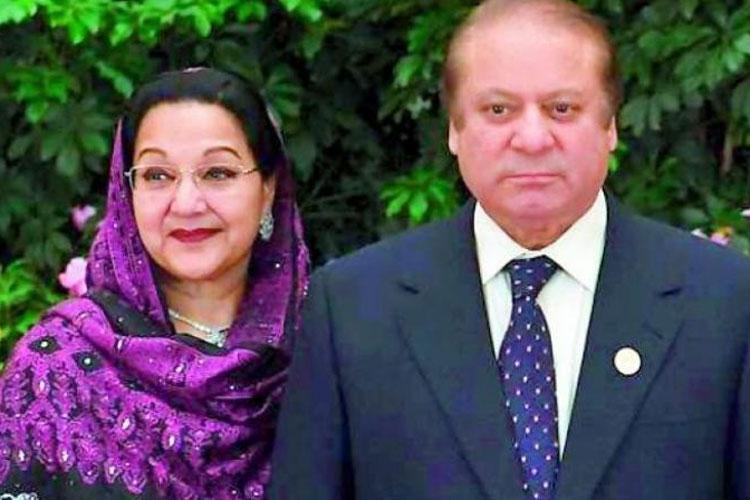 Kulsoom Nawaz and Nawaz Sharif   AP- India TV Hindi