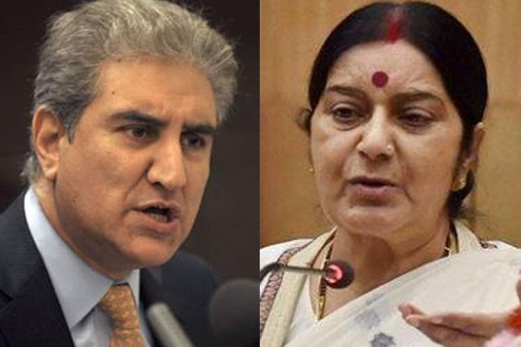 Shah Mehmood Qureshi and Sushma Swaraj | File Pic- India TV Hindi