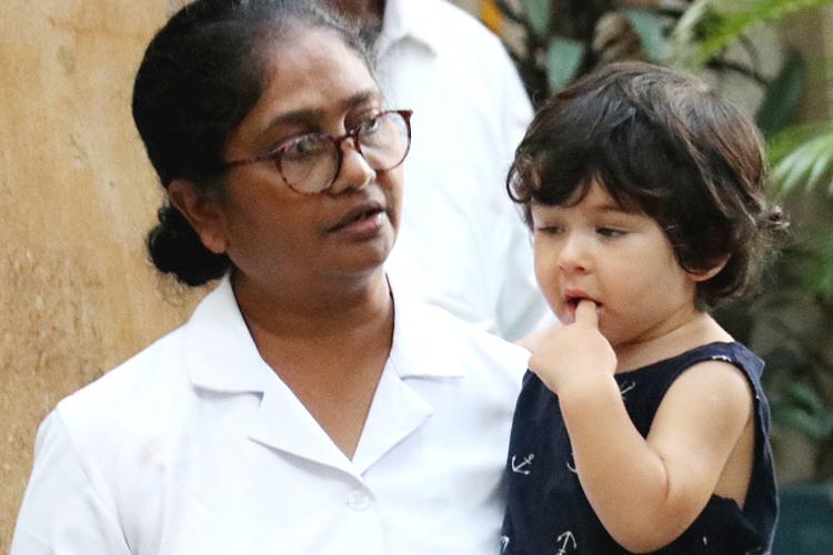 Taimur Ali Khan with his Nanny- India TV Hindi