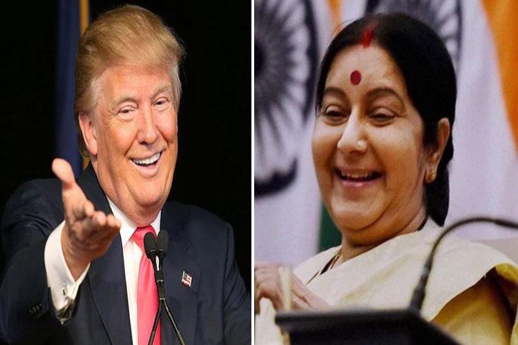 donald trump and sushma swaraj- India TV Hindi
