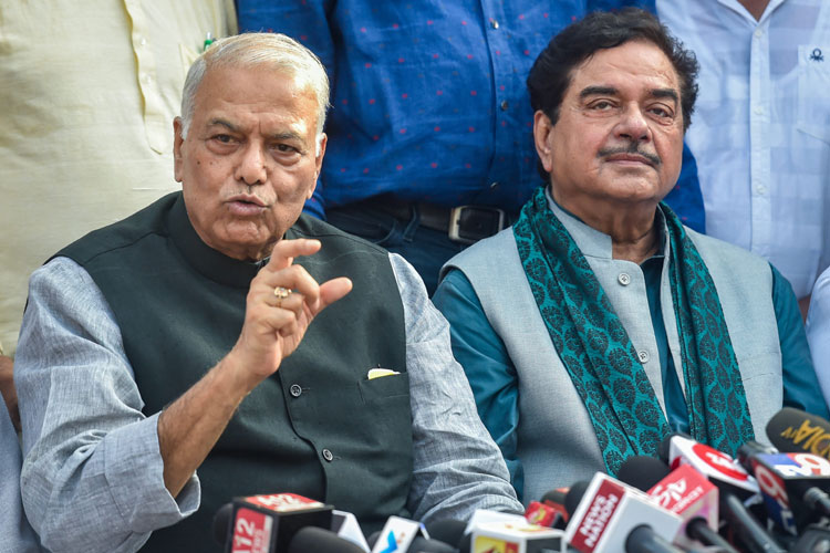 Former Union Minister Yashwant Sinha and BJP leader...- India TV Hindi