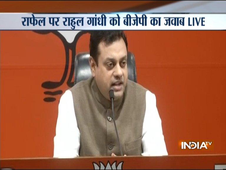 BJP's statement on Rahul Gandhi's Rafale deal allegations - India TV Hindi