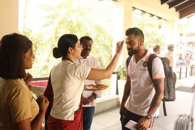 टीम इंडिया का केरल में पारंपरिक अंदाज में स्वागत- India TV Hindi