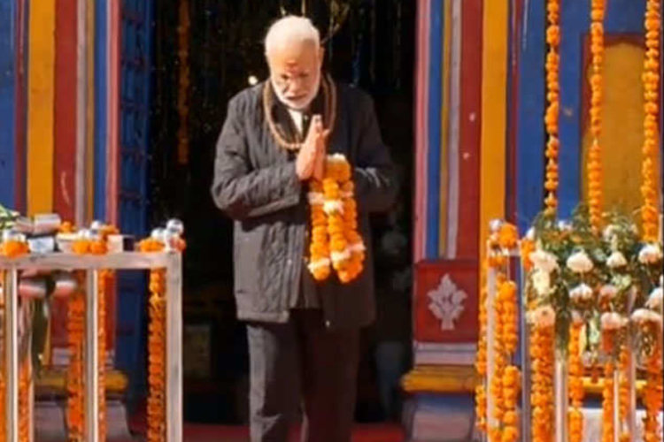 पीएम मोदी केदारनाथ पहुंचे, चीन सीमा पर जवानों के साथ मनाई दीपावली- India TV Hindi
