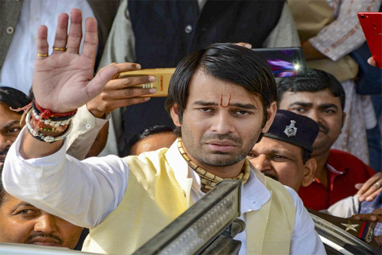 Tej Pratap Yadav leaves after attending the winter session of Bihar Assembly in Patna on Friday- India TV Hindi