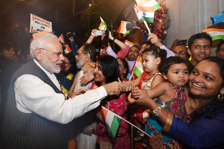 PM Modi in Singapore- India TV Hindi