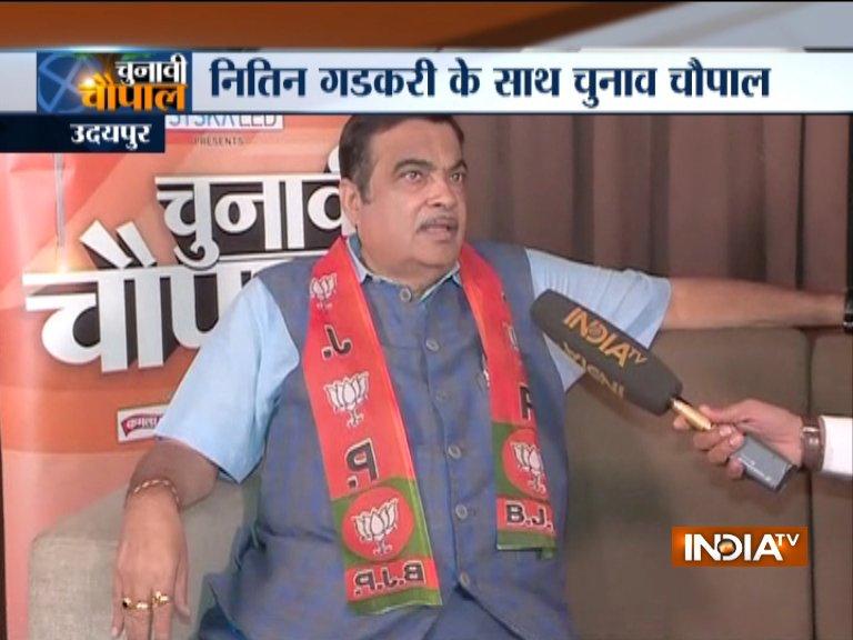 Nitin Gadkari Exclusive on India TV- India TV Hindi