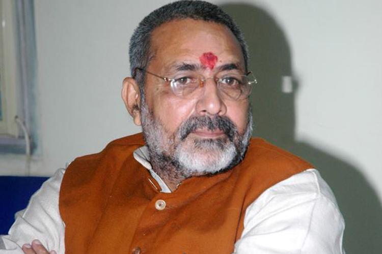 कांग्रेस ने महात्मा गांधी के नाम का इस्तेमाल राजनीतिक लाभ के लिए किया: गिरिराज सिंह- India TV Hindi