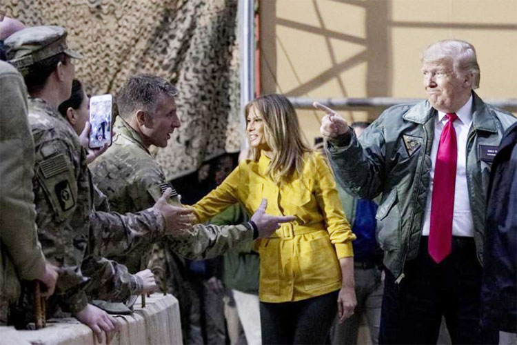 Donald Trump makes his first visit to US troops in Iraq | AP Photo- India TV Hindi