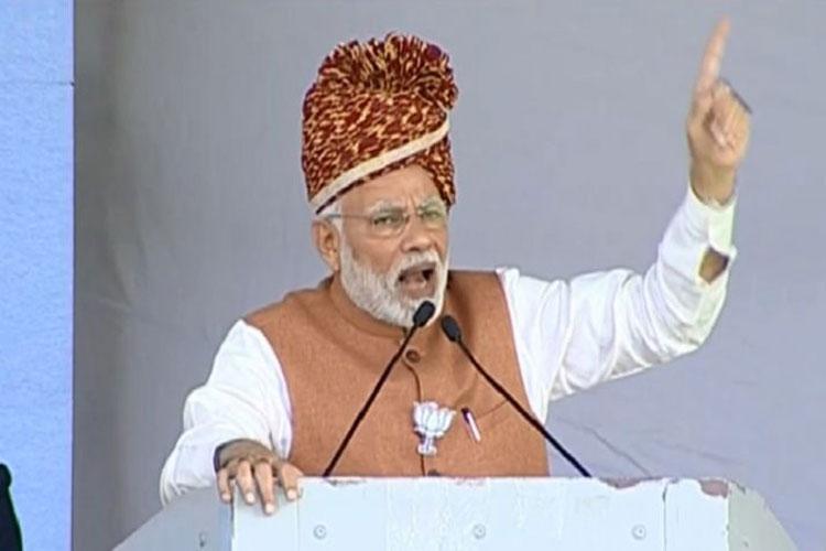 Narendra Modi addressing a rally in Jodhpur- India TV Hindi