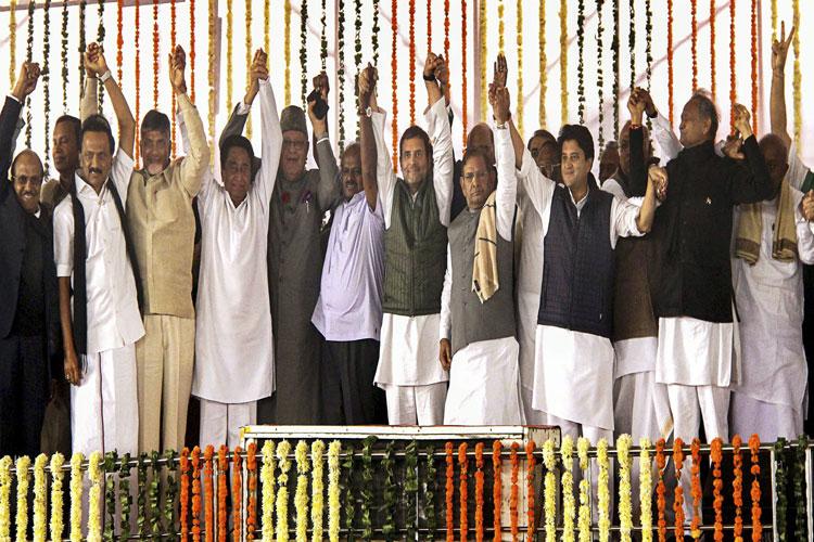 Congress CMs' swearing-in- India TV Hindi