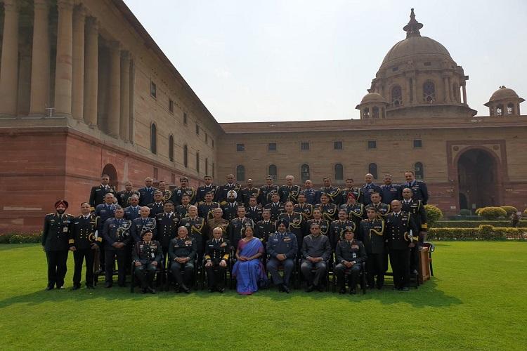 Defence minister Nirmala Sitharaman with the Defence...- India TV Hindi
