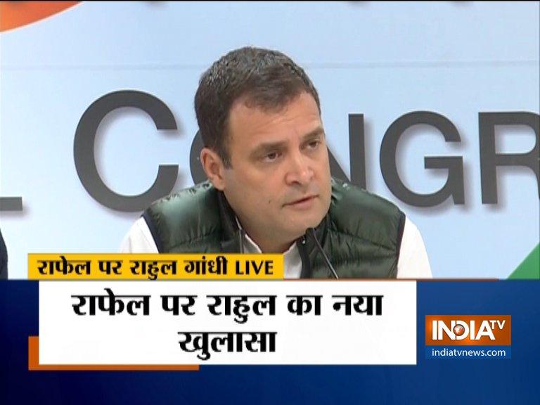 Rahul Gandhi's fresh allegation against PM Modi on Rafale Deal- India TV Hindi