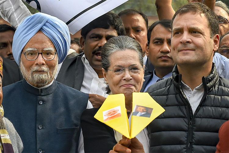 Manmohan Singh, Sonia Gandhi and Rahul Gandhi | PTI- India TV Hindi