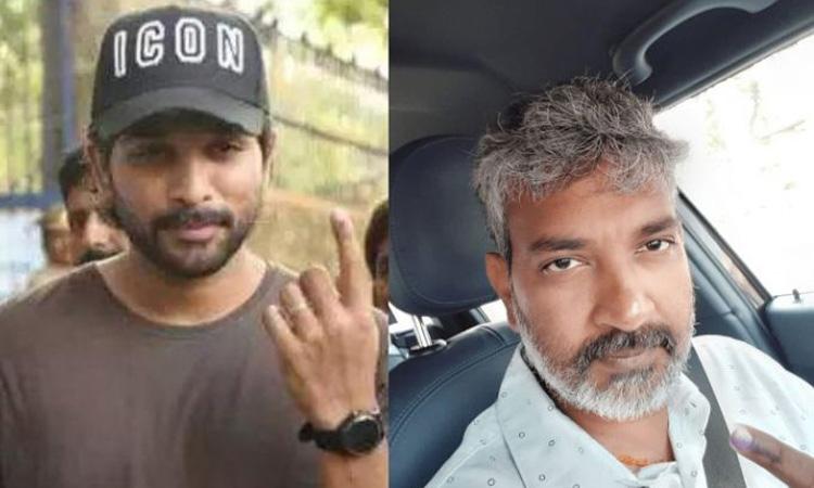 Allu Arjun, SS Rajamouli and Jr NTR cast their vote in Lok Sabha Elections 2019- India TV Hindi