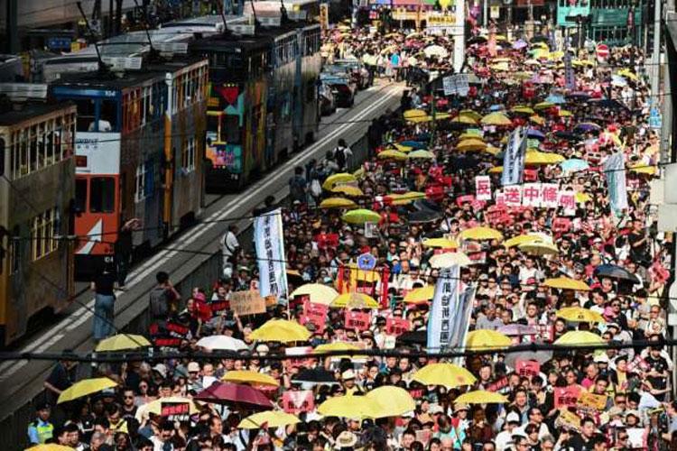 Huge protest in Hong Kong- India TV Hindi