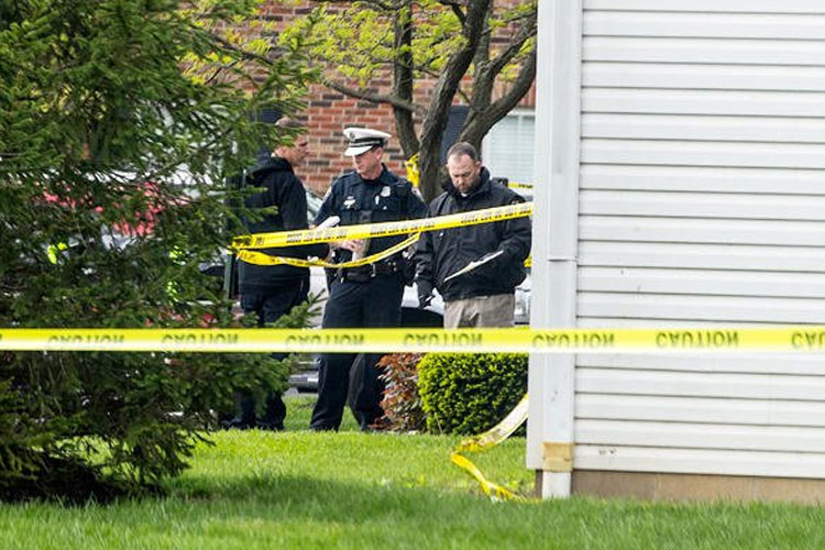 Police tape cordons off the scene where multiple people were found dead Sunday night in West Chester- India TV Hindi