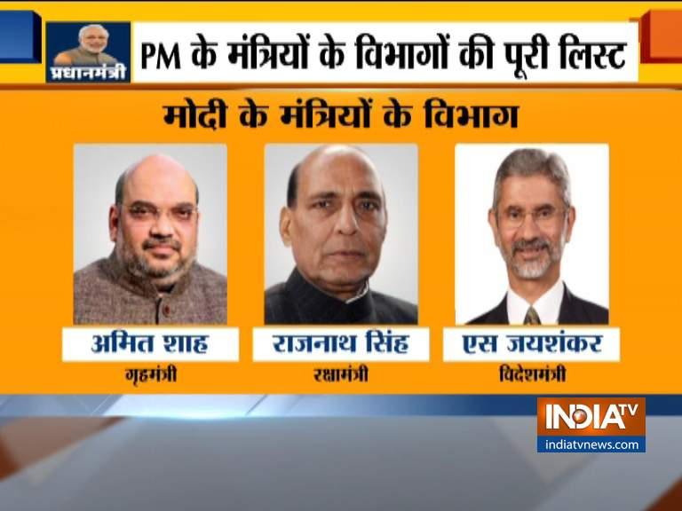 Ministries given to all ministers of Modi's Cabinet - India TV Hindi