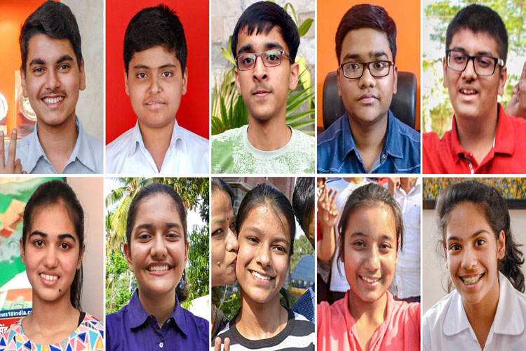 10 of the 13 toppers of Central Board of Secondary Education (CBSE) class 10th examinations- India TV Hindi