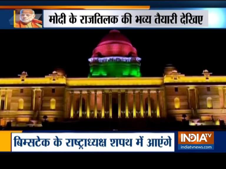 ऐसा होगा शपथग्रहण समारोह, मोदी के राजतिलक की भव्य तैयारी- India TV Hindi